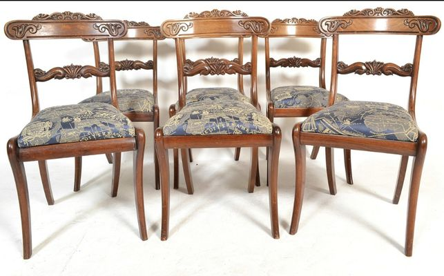 Peachy Antique Mahogany Dining Chairs Set Of 6 Pabps2019 Chair Design Images Pabps2019Com