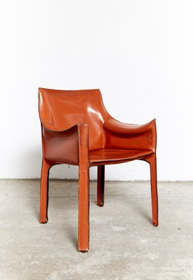 Phenomenal Italian Leather Cab 413 Chairs By Mario Bellini For Cassina 1977 Set Of 5 Ocoug Best Dining Table And Chair Ideas Images Ocougorg