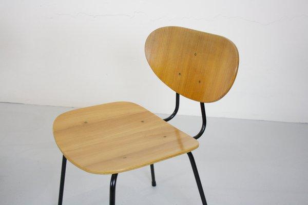 Sillas de comedor modelo 145 escandinavas modernas de Kurt Nordstrøm para  Knoll International, años 50. Juego de 4