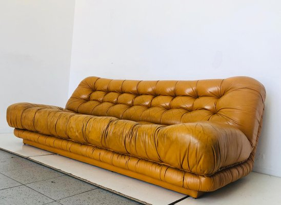 Vintage Italian Leather Sofa, 1970s