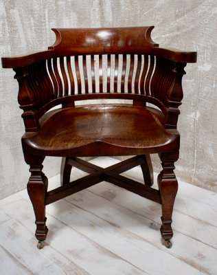 Fabulous Antique Oak Desk Chairs 1901 Set Of 4 Gmtry Best Dining Table And Chair Ideas Images Gmtryco