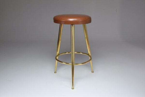 Awesome Mid Century Italian Cow Leather Stool By Ico Parisi 1950S Camellatalisay Diy Chair Ideas Camellatalisaycom