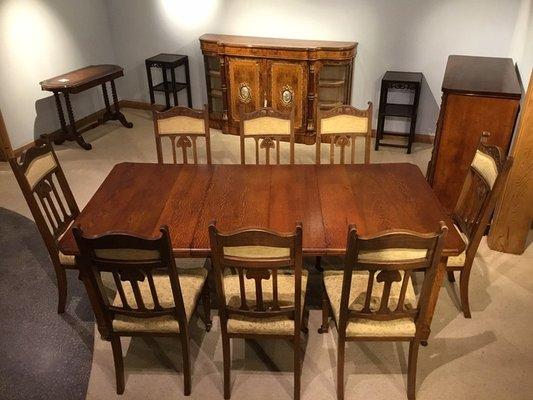 Marvelous Art Nouveau Oak Dining Table Set 1900S Home Interior And Landscaping Staixmapetitesourisinfo