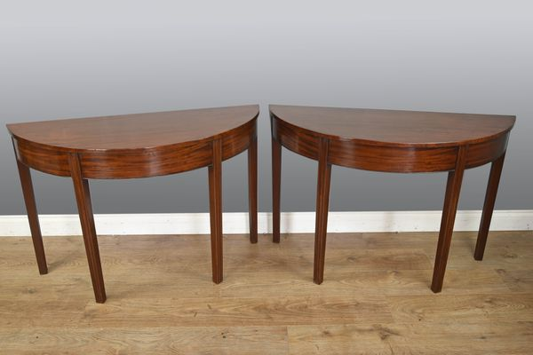 Antique Mahogany Console Tables Set Of