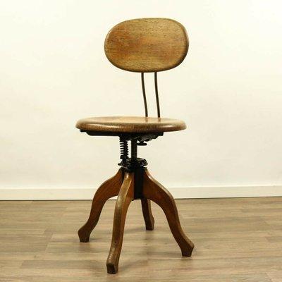 Métal Vintage Et De MarkenlosAllemagne Chêne Bureau En Kontor Chaise Industrielle jLpGUVqzSM