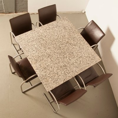 Tremendous Italian Modern Granite Dining Table 1980S Gmtry Best Dining Table And Chair Ideas Images Gmtryco