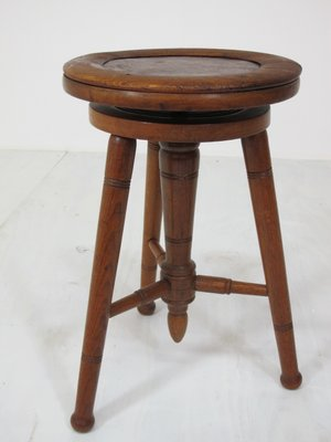 Incredible Vintage Adjustable Oak Piano Stool 1920S Theyellowbook Wood Chair Design Ideas Theyellowbookinfo
