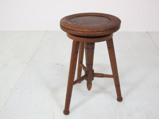 Surprising Vintage Adjustable Oak Piano Stool 1920S Machost Co Dining Chair Design Ideas Machostcouk