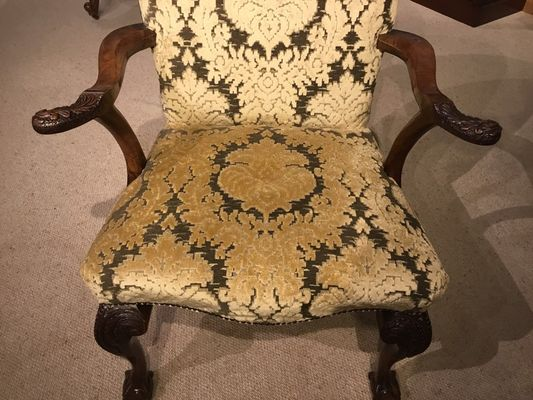 Magnificent Georgian Style Walnut Desk Chair 1890S Evergreenethics Interior Chair Design Evergreenethicsorg