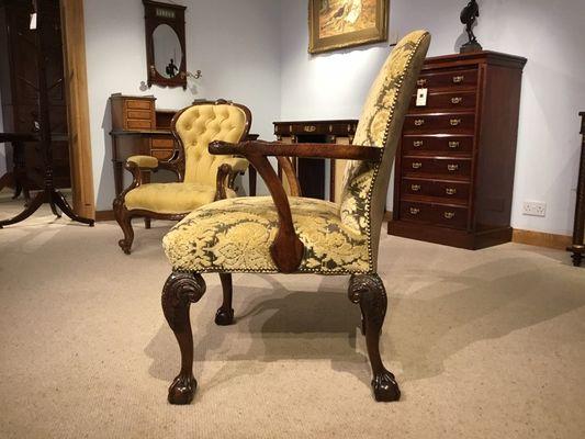 En Chaise De Géorgien Style Bureau Noyer1890s wk0POnX8