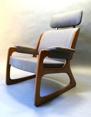 Wondrous French Sleigh Lounge Chair From Baumann 1960S Spiritservingveterans Wood Chair Design Ideas Spiritservingveteransorg