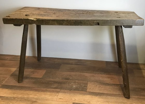 Antique French Rustic Butcher S Block