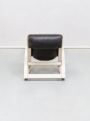 Peachy Italian Leather Sgarsul Rocking Chair By Gae Aulenti For Poltronova 1962 Dailytribune Chair Design For Home Dailytribuneorg