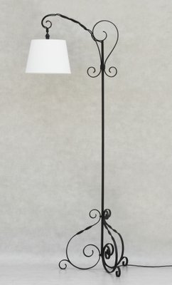 Mid Century French Wrought Iron Floor Lamp 1950s For Sale At Pamono