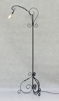 best service 078e8 92b64 Mid-Century French Wrought Iron Floor Lamp, 1950s