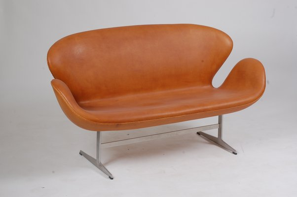 Danish Steel And Aniline Leather Sofa By Arne Jacobsen For Fritz Hansen 1970s