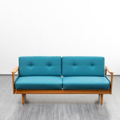 Enjoyable Mid Century Sofa In Petrolblau 1960Er Cjindustries Chair Design For Home Cjindustriesco