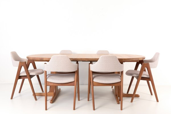 Scandinavian Modern Teak Dining Chairs From Dyrlund 1970s Set Of 6 For Sale At Pamono