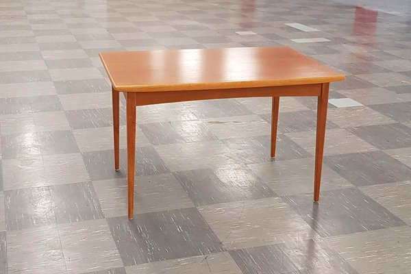 Vintage Swedish Teak Extendable Dining Table from Rosenthal, 1950s