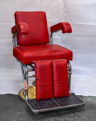 Vintage Red Barber S Chair 1960s