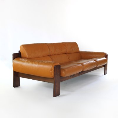 Scandinavian Modern Rosewood and Leather Sofa from Uu-Vee Kaluste Oy ...