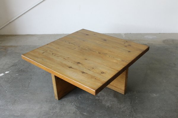 Swedish Solid Pine Coffee Table By Sven Larsson 1960s