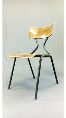 et Chaise en Bois1960s Acier ordBexWC