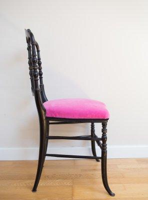 Antiker Chiavari Stuhl Aus Holz In Schwarz Gold