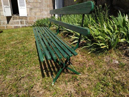 Jardin de Chaise et Bois1920s Rustique Métal Vintage en en XwPkTuOZli