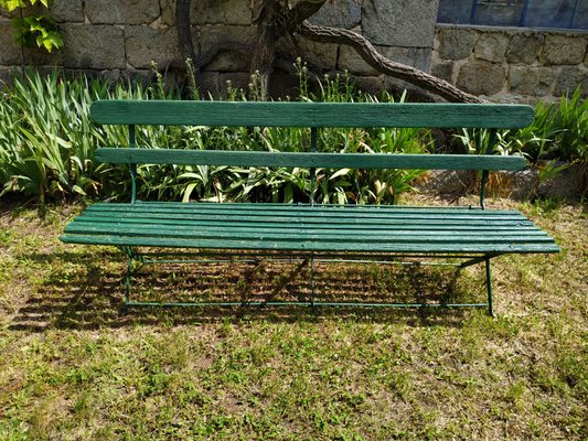 Bois1920s Chaise En Rustique Vintage Jardin De Métal Et ARj4L35