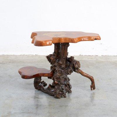 Table D Appoint Vintage En Tronc D Arbre 1960s