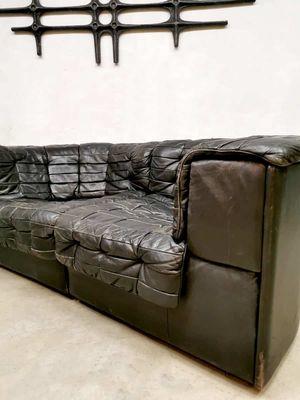 Vintage Model Ds 11 Modular Bank Patchwork Leather Sofa From De Sede