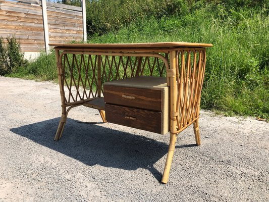 Enjoyable Rattan Desk 1960S Gmtry Best Dining Table And Chair Ideas Images Gmtryco