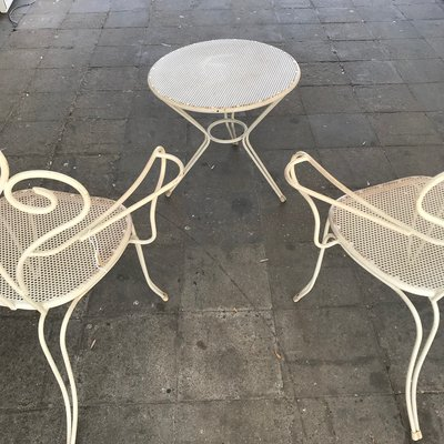 Strange Vintage Italian Aluminum Garden Set With Chairs And Table 1970S Ibusinesslaw Wood Chair Design Ideas Ibusinesslaworg