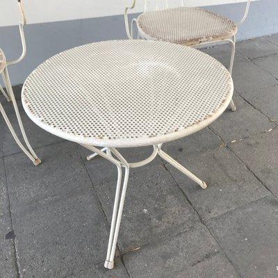 Tavoli Da Giardino Vintage.Set Da Giardino Vintage In Alluminio Con Sedie E Tavolo Italia