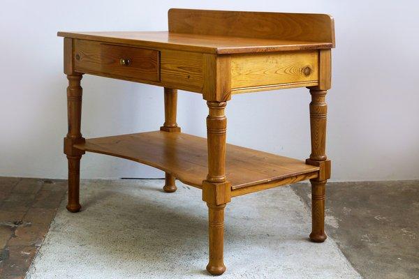 Tavolo Legno Cucina Antico.Tavolo Da Cucina Antico Art Nouveau In Legno E Abete Rosso