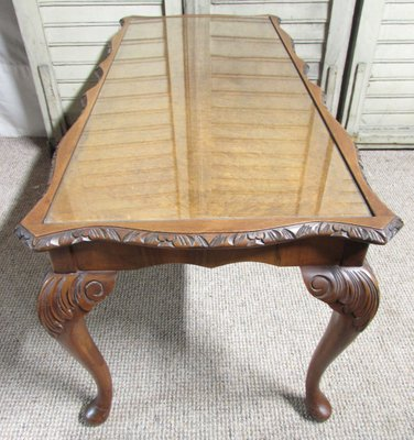 Queen Anne Style Burr Walnut Coffee Table 1920s For Sale At Pamono