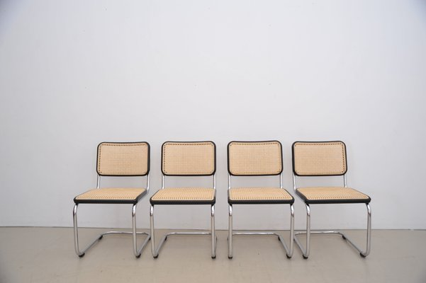Marvelous German Wood And Tubular Steel S32 Dining Chairs By Marcel Breuer For Thonet 1980S Set Of 4 Pdpeps Interior Chair Design Pdpepsorg