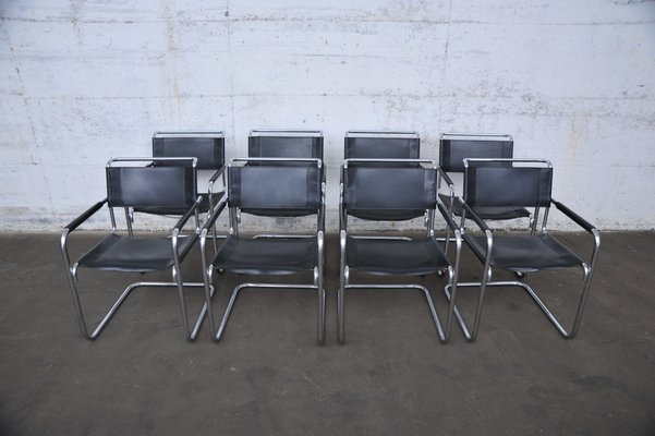 Mart Stam Design.German S34 Dining Chairs By Mart Stam Marcel Breuer For Thonet 1980s Set Of 8