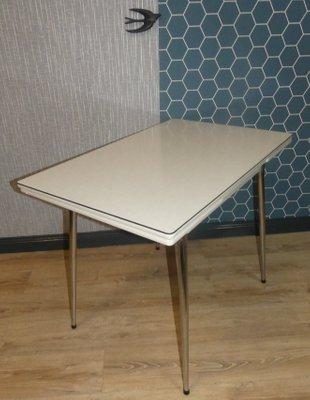 Table Petite Cuisine Extensible Chrome Et Resopal1950s En De sxCtQdrh