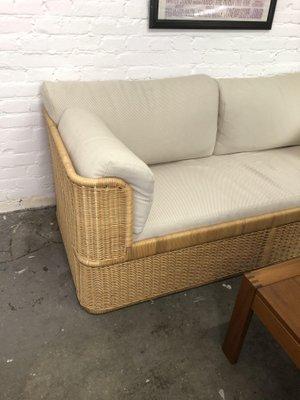 Superbe Vintage Rattan Sofa, 1980s