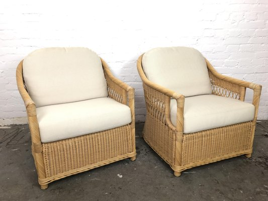Astonishing Vintage Rattan Lounge Chairs Set Of 2 Caraccident5 Cool Chair Designs And Ideas Caraccident5Info