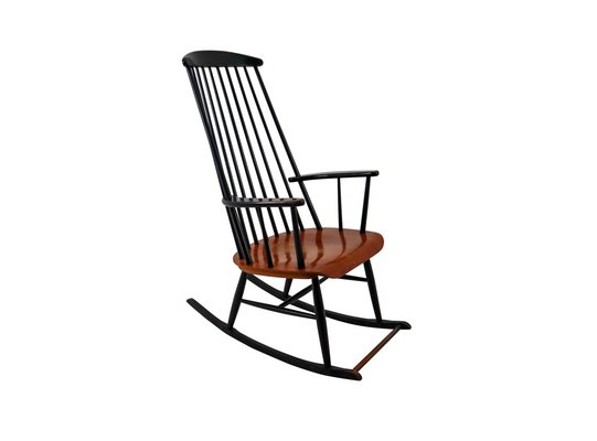 Amazing Black Wooden Rocking Chair By Ilmari Tapiovaara For Asko 1950S Lamtechconsult Wood Chair Design Ideas Lamtechconsultcom