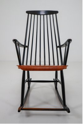 Admirable Black Wooden Rocking Chair By Ilmari Tapiovaara For Asko 1950S Lamtechconsult Wood Chair Design Ideas Lamtechconsultcom