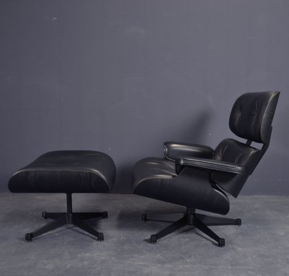 Miraculous Black Lounge Chair Ottoman Set By Charles Eames For Vitra 2000S Theyellowbook Wood Chair Design Ideas Theyellowbookinfo