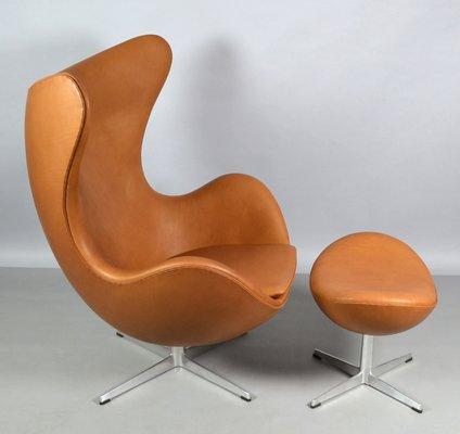 Amazing Leather Egg Chair Ottoman Set By Arne Jacobsen For Fritz Hansen 1967 Ibusinesslaw Wood Chair Design Ideas Ibusinesslaworg