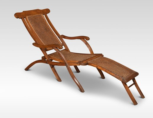 Miraculous Antique Cane And Walnut Folding Lounge Chair Short Links Chair Design For Home Short Linksinfo