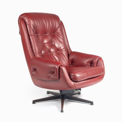 Peachy Scandinavian Modern Cow Leather And Eco Leather Swivel Chair From Peem 1970S Ibusinesslaw Wood Chair Design Ideas Ibusinesslaworg