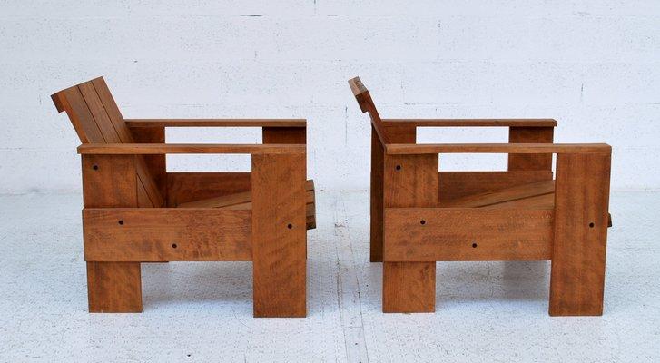 Strange Italienischer Crate Sessel Aus Buchenholz Von Gerrit Rietveld Fur Cassina 1980Er Download Free Architecture Designs Scobabritishbridgeorg
