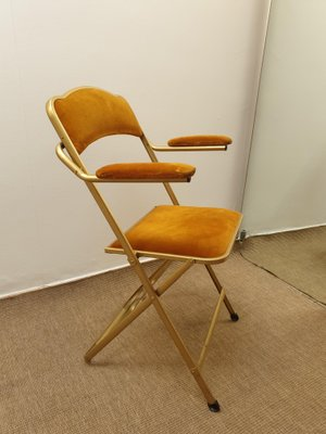 Admirable French Steel And Velvet Folding Chairs 1960S Set Of 2 Caraccident5 Cool Chair Designs And Ideas Caraccident5Info